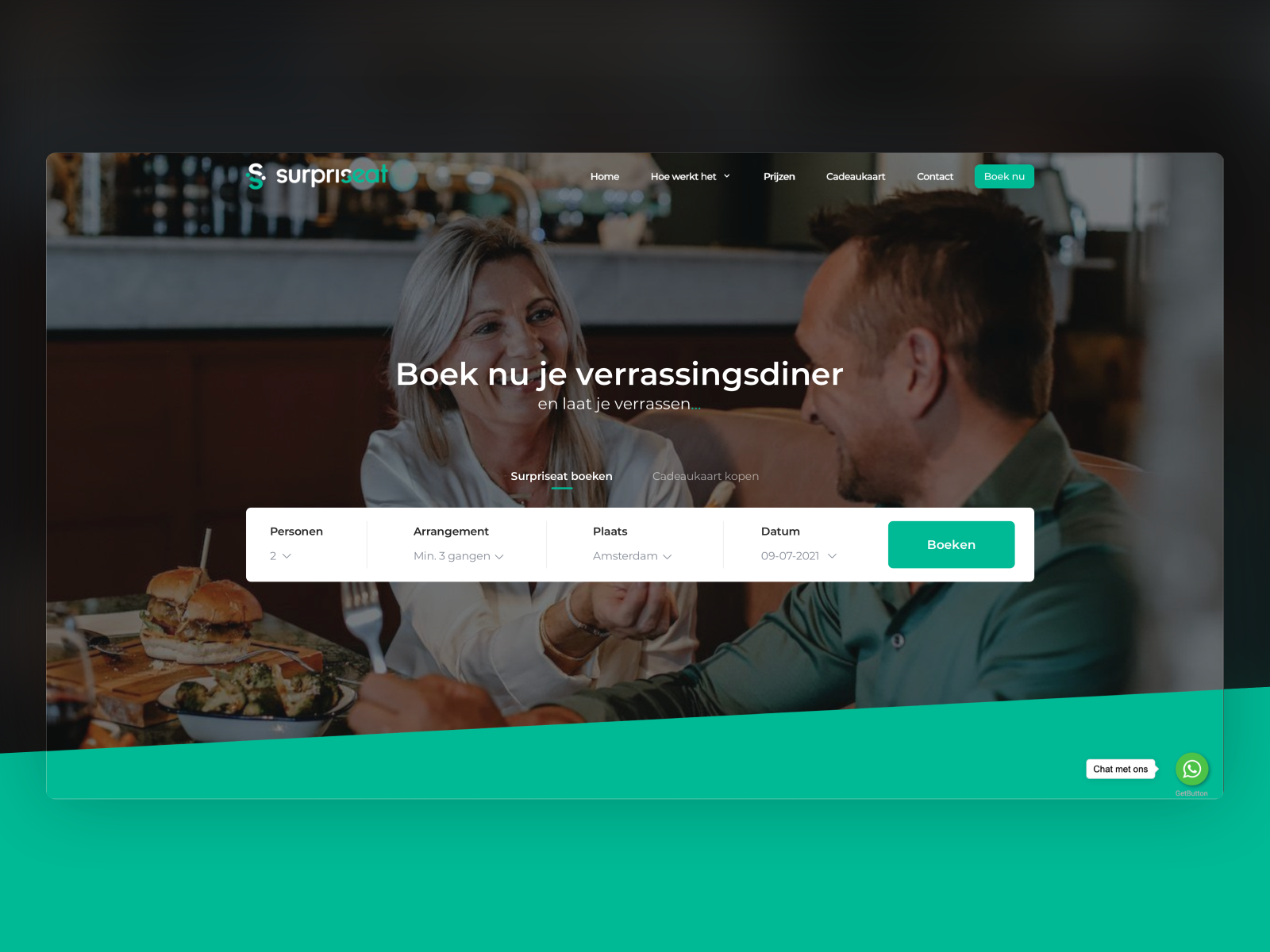 Concept for booking site
