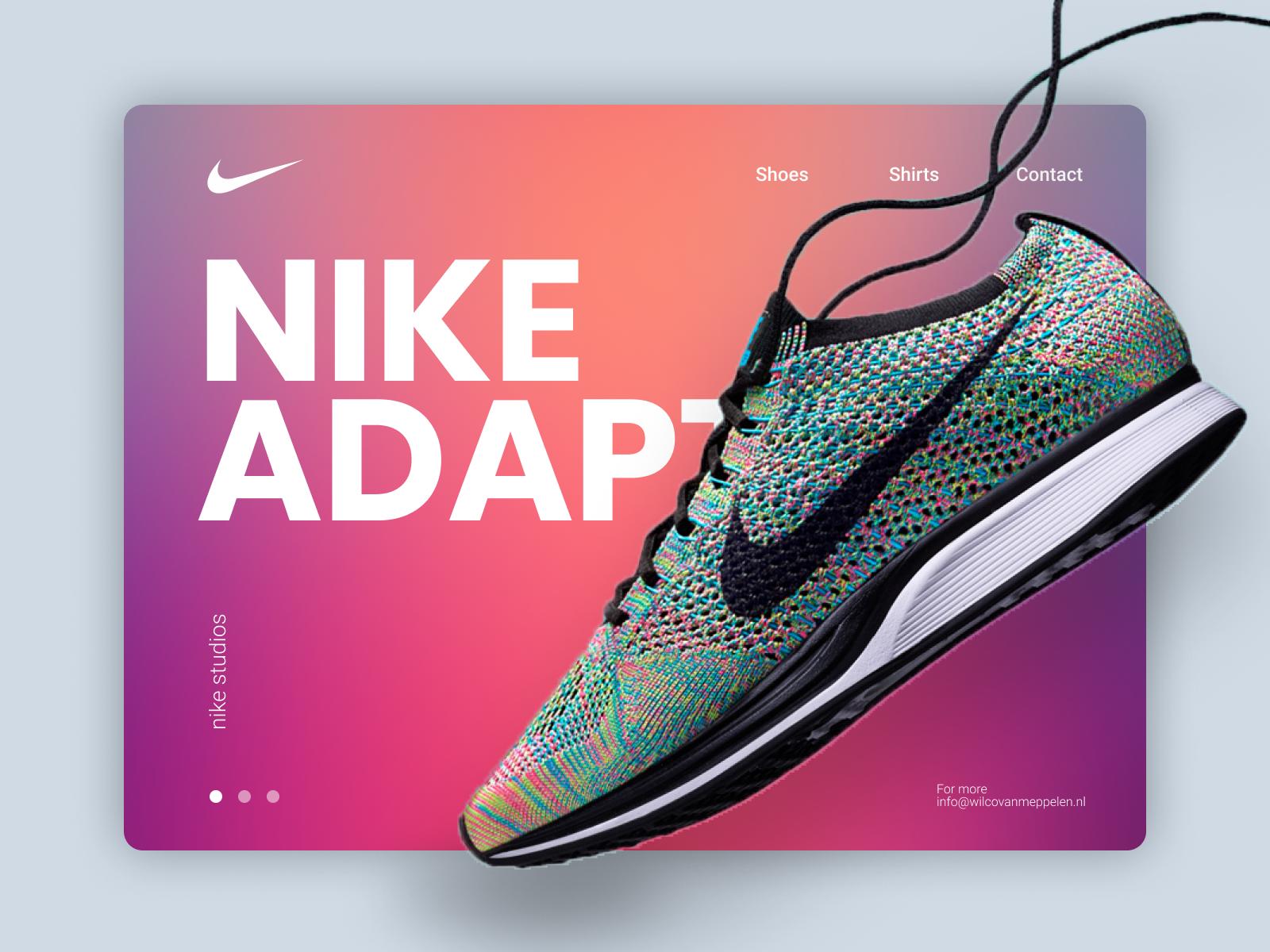 Nike landingpage
