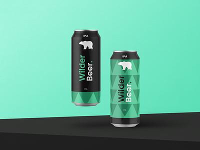 Wilder Beer, a beer concept 🍺 logo graphic design 3d branding
