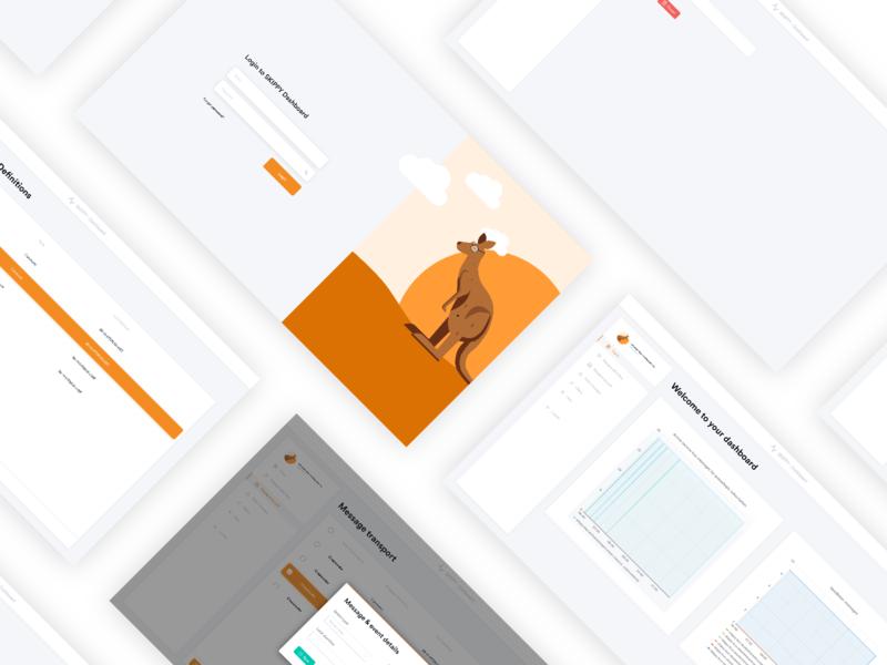 SKIPPY Dashboard layout login design login illustration icon design animals vector ui flat dashboard
