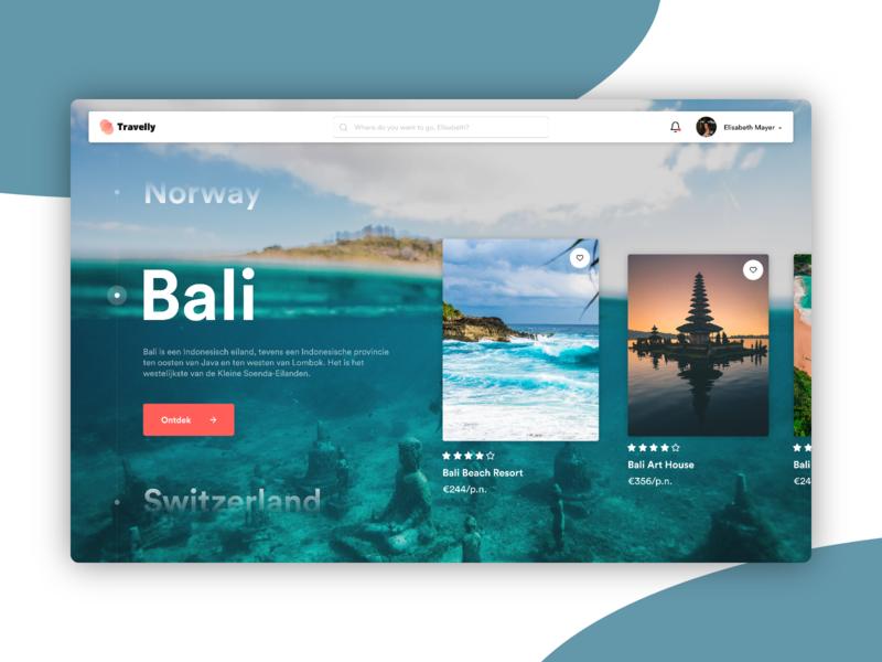 Travel Website Concept website typography web ux design branding app ui