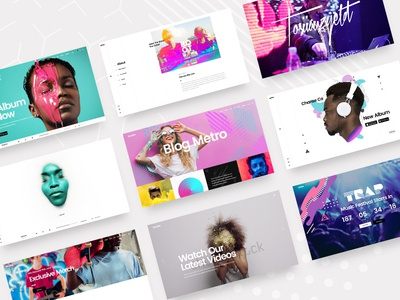 Mixtape-Music Theme for Artists, Bands, and Festivals