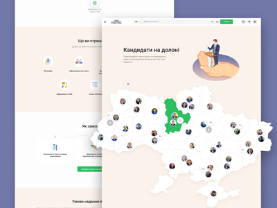 Landing and interactive map blog typography ux animated map interaction landing page landing illustration branding design uidesign ui