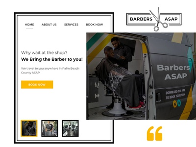 Website Design for BarbersASAP