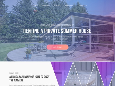 Website design for renting a Summerhouse