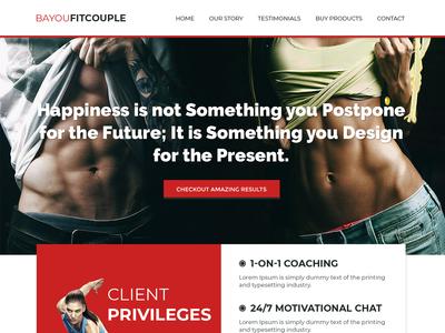 bayoufitcouple Web Site Design