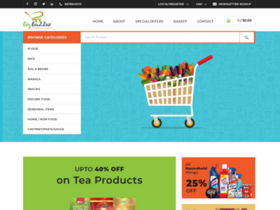 bigbazzar web page design