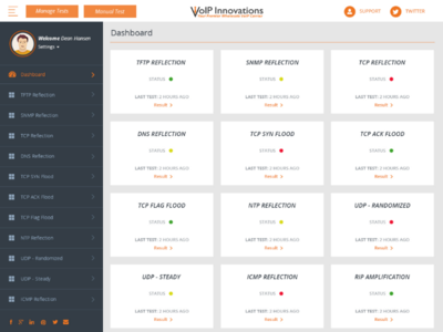Dashboard Design Voip Innovations