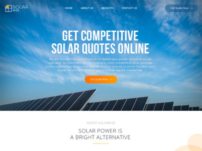 Web Page Design for Solar Panel Installation Company