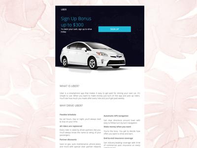 Newsletter Design for Uber