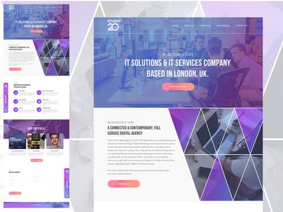 studio27 Landing Page Design