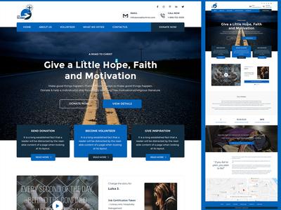 Charity Website Homepage design