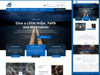 Charity Website Homepage design