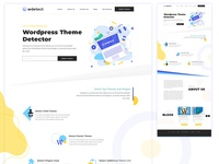 Wordpress Theme detector website design