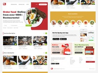 Food Delivery Website  Style Concept