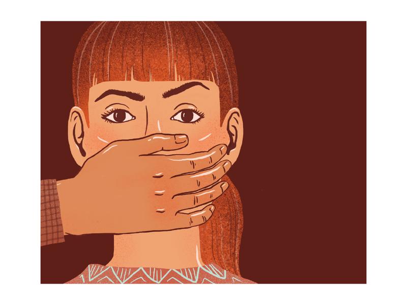 Information or gossip? silence graphics vector splenitis woman girl people illustrations