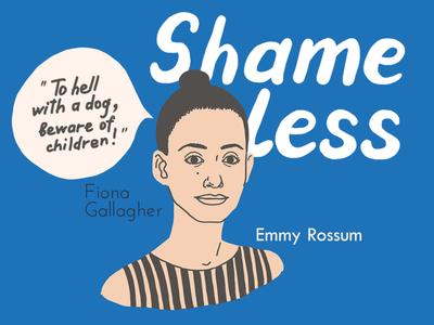 Fiona woman graphics fiona actress shameless girl face series illustration portrait