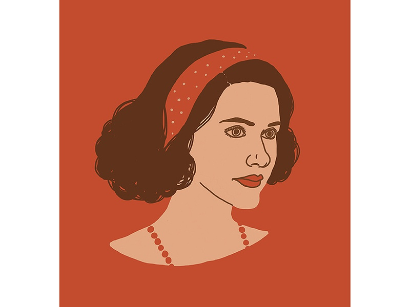 The Marvelous Mrs. Maisel actress woman girl series graphics face illustration portrait