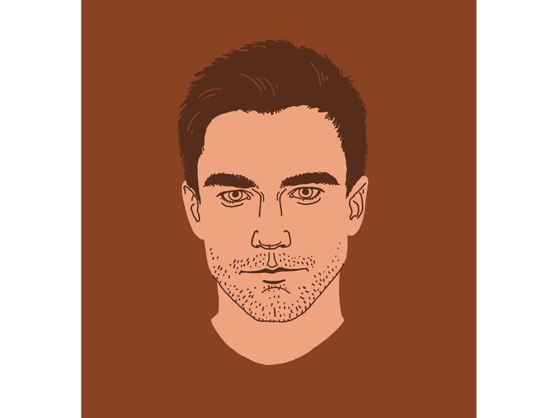 Actor Alexander Petrov illustrator serials face people portrait illustration graphics