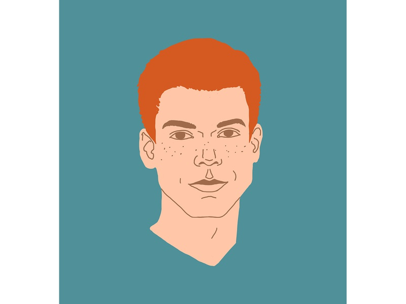 Cameron Monaghan monaghan monaghan actor drawing face shameless illustrations series people portrait illustration graphics