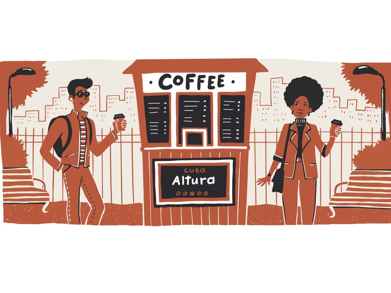 Cuban coffee character design packaging design coffee packaging design illustrations people illustration graphics