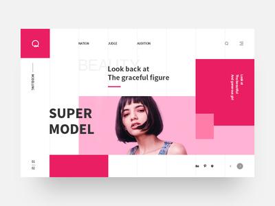 Model format website web typography type ui design