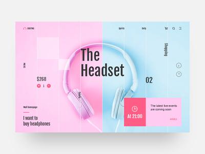 The headset format website web typography type ui design