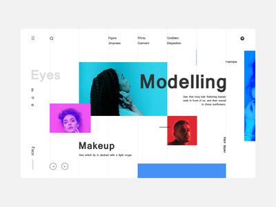 Modelling format website web typography type ui design