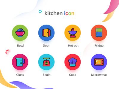 The kitchen icon icon type ui design