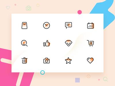 Line plane icon icon type ui design