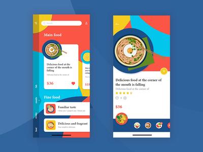 Hand painted food app app illustration ux typography type ui design
