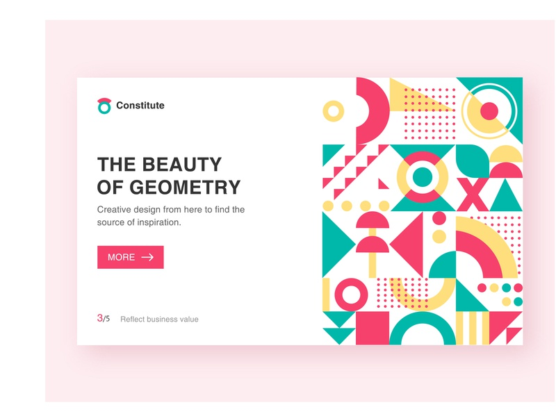 Geometric composition website illustration type ui design