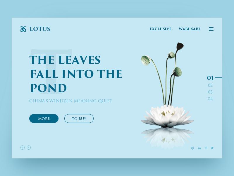 Lotus format type website ux web typography ui design