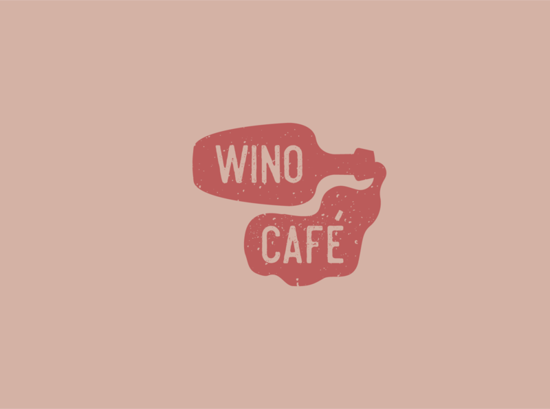 Wino cafe logo logo design logodesign logotype icon typography illustration branding vector logo