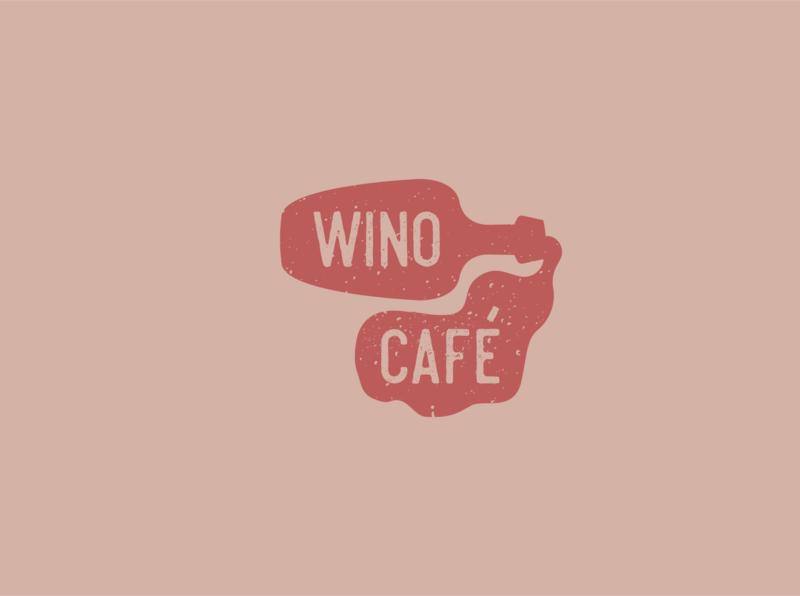Wino cafe logo logo design logodesign logotype icon typography illustration branding vector logo
