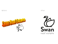Swan Real Estate Logo Redesign