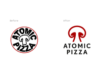 Atomic Pizza Logo Redesign