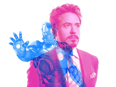 Iron Man Double Color Exposure