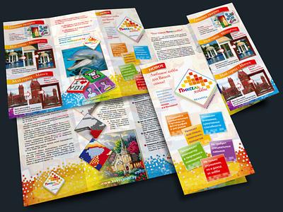 Print design 3-fold broshure broshure leaflet flyer print design polygraphy print design
