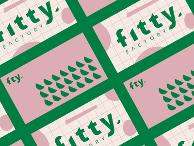 Fitty Factory - Brand Identity bakery green branding design health healthy logo identity brand