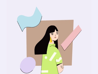No is no abstract shapes fashion illustrator editorial illustration editorial art character design illustration illustration art character design women character women illustration women in illustration