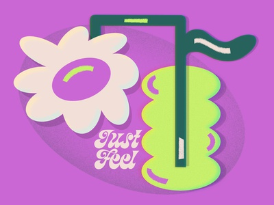 Just Feel feelings editorial illustration branding flowers women in illustration art direction editorial art green design illustration