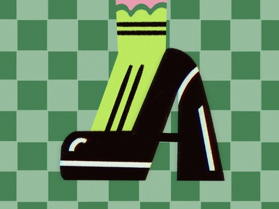 A fashion fashion illustration 36daysoftype01 36daysadobe 36daysoftype shoes green illustration