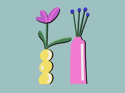 H vesel 36daysofadobe 36daysoftype flower illustration plants decoration green women in illustration design illustration flowers