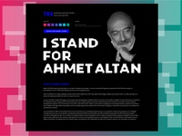 """Single Page for ''I Stand for Ahmet Altan"""""""