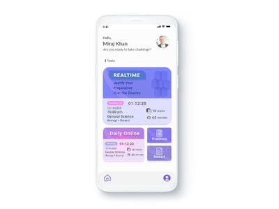 Study app xd web ux ui design