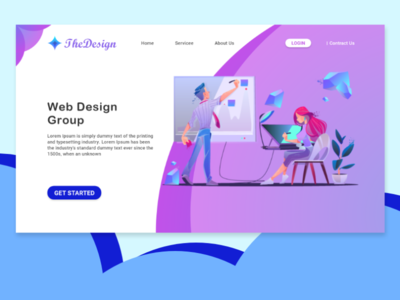 Landing Page website webdesign ux app ui xd design