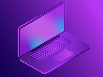 Isometric Laptop vectorart flatdesign isometric illustrations