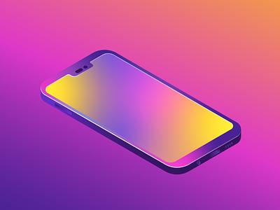 Isometric Phone flatdesign design vectorart illustrations isometric