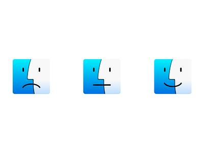 Finder Fun finder macbook macos funny web app icon concept design